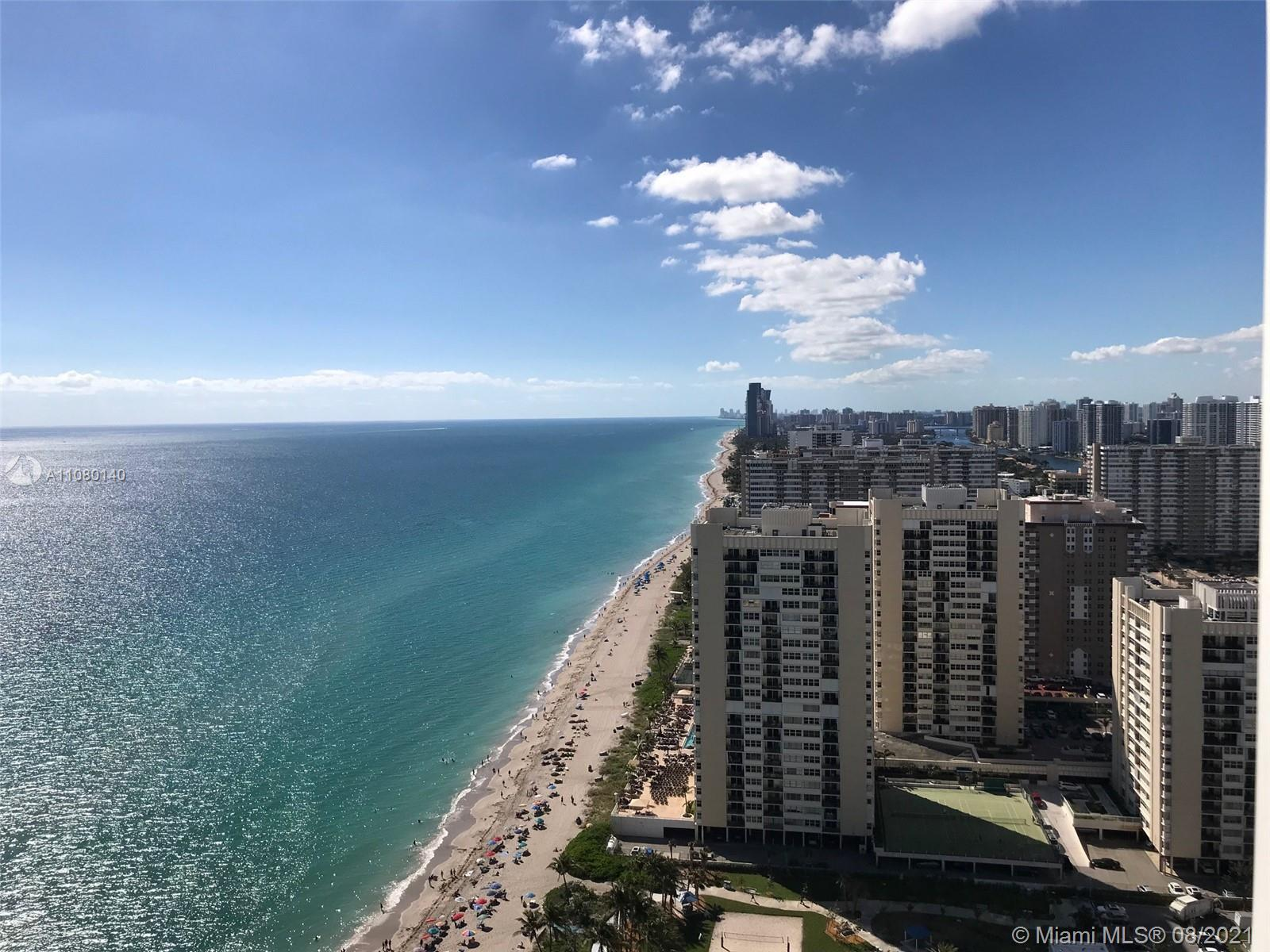 Breathtaking direct ocean and skyline views from every room or from your 586 Sq.Ft. wraparound balco