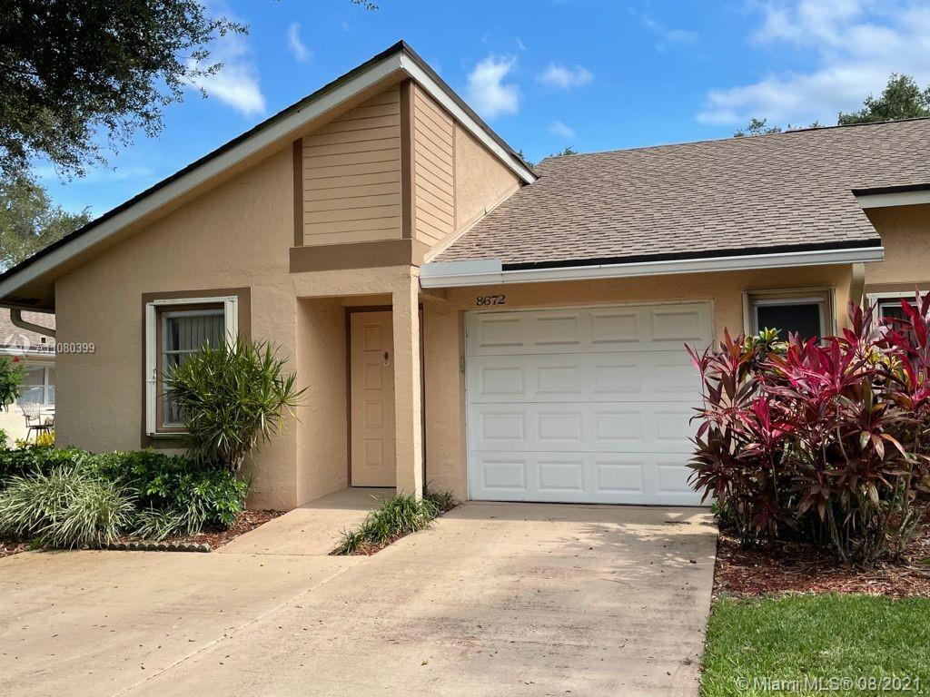 Amazing opportunity large 2/2 corner unit villa with vaulted ceiling's. The spacious property is original but in immaculate condition absolute pride of ownership. There is a huge master suite with large closet as well as extra sitting space.The guest bedroom is very large as well With a good size laundry room and patio area to sit in the morning and enjoy your coffee. This gated community is very tranquil and peaceful in a park like setting. This is a must see. Will not last. Professional photos coming soon!
