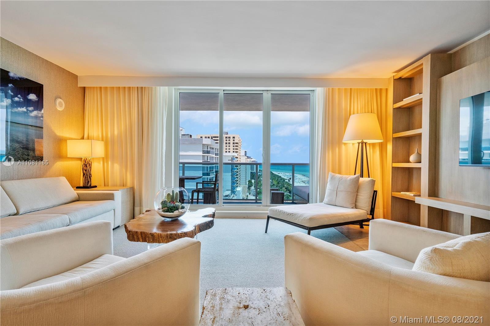 The perfect Miami Beach spot to relax and enjoy 5 star resort living. Custom furniture package caref