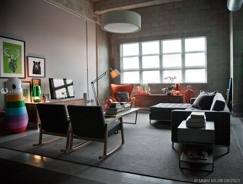 Stunning NY Style furnished Loft with 15' ceilings.  Contemporarily furnished move in ready with liv
