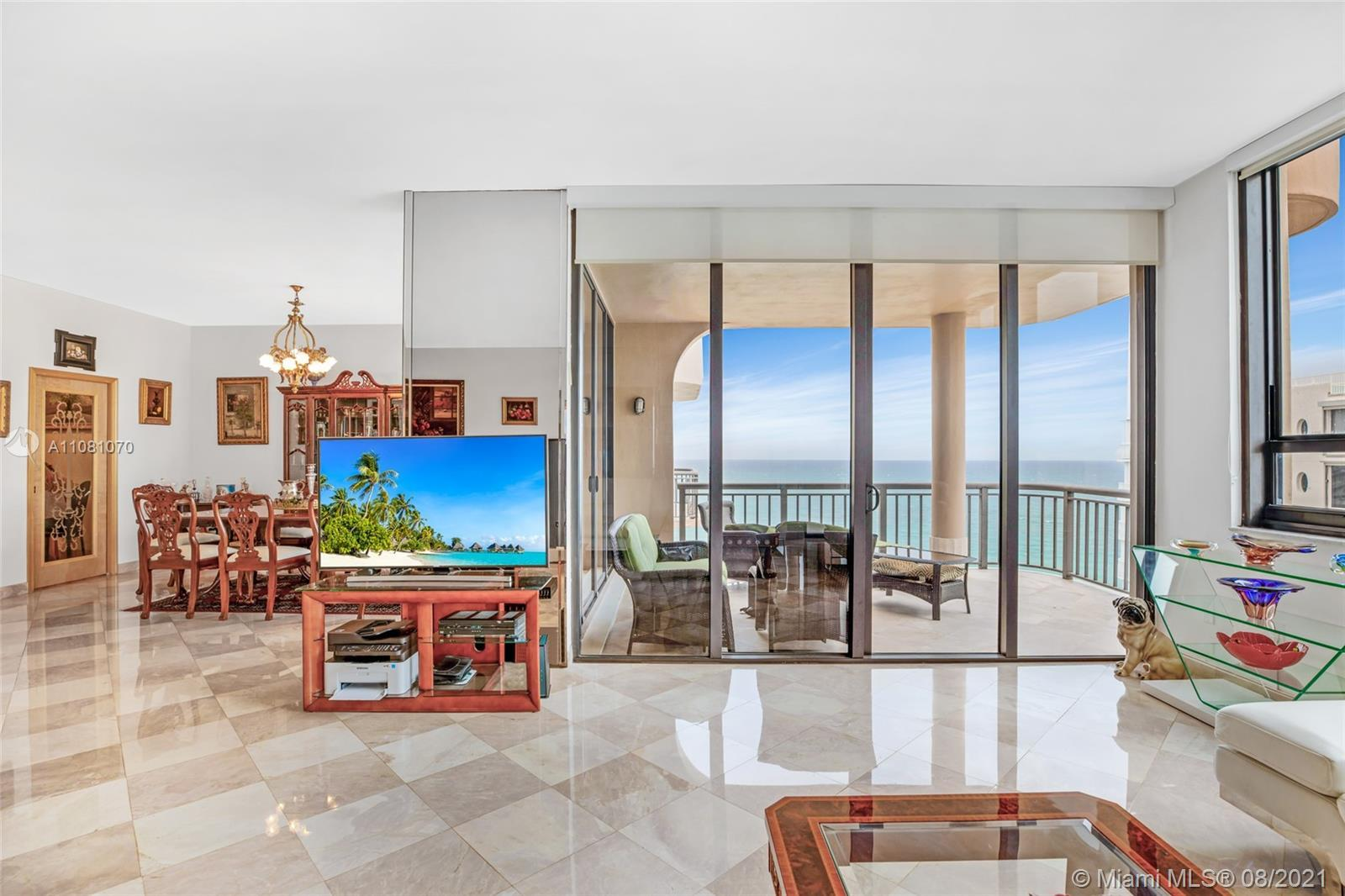 Rare and unique penthouse in the sky. Wake up to breathtaking views of the ocean, blue skies & beach