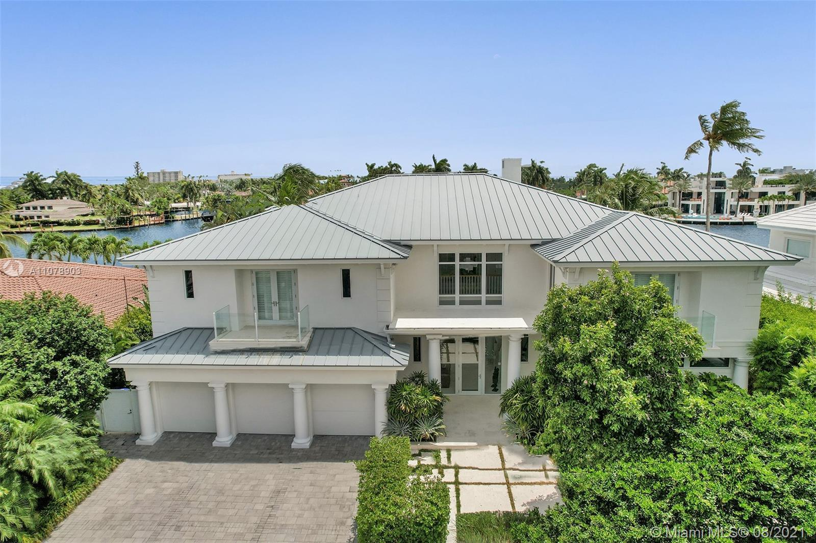 Stunning waterfront estate located in the unique island community of Sunrise Key consisting of 75 si