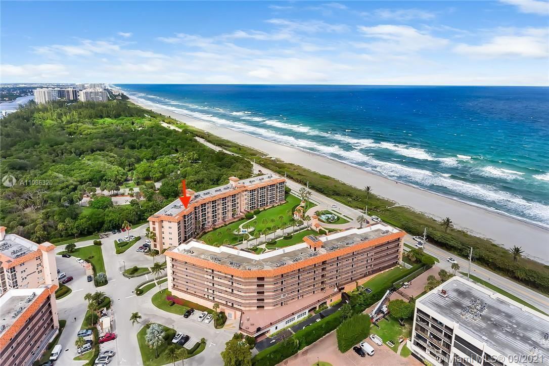 Direct Ocean Front unit in gated intracoastal community of San Remo. 2 bedroom, 2 bath Penthouse wit