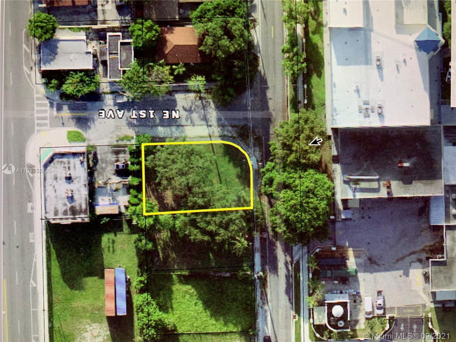 Well located Corner Lot. Zoned T4-O: residential or commercial uses. Easy access via 3 Miami streets