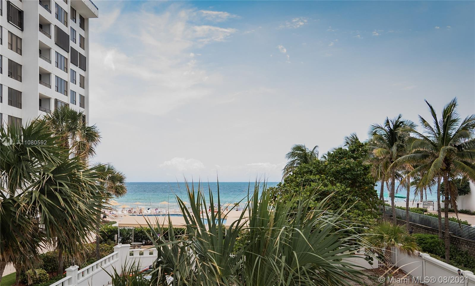 REMODELED CORNER 2/2 UNIT WITH TRANQUILE DIRECT OCEAN & POOL VIEW FROM THE OPEN BALCONY AND BEDROOM