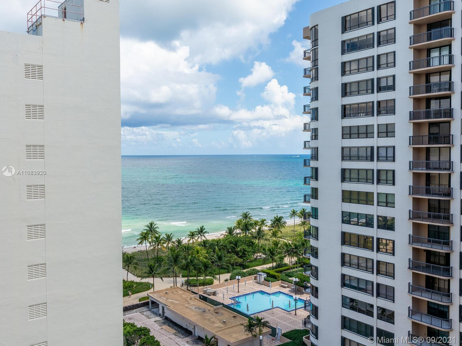 Gorgeous remodeled 1 bedroom 1.5 bath condo in Bal Harbour! White porcelain floor throughout, very b