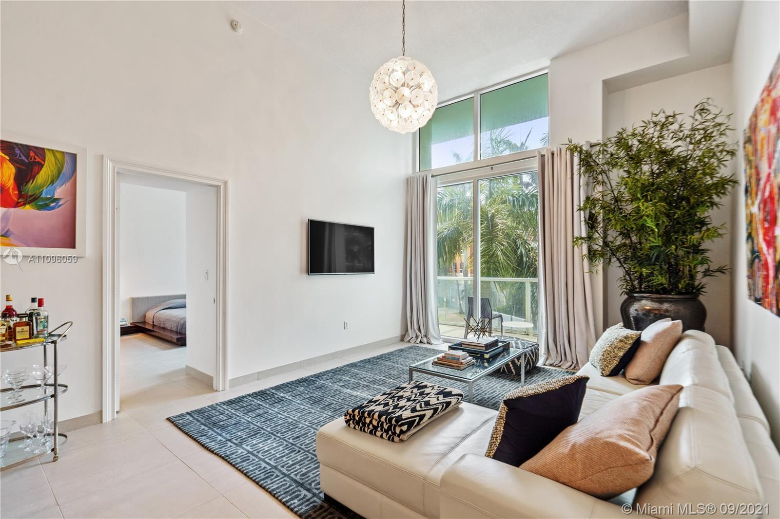 Modern and spacious 1 bed 1 bath 753 sq ft unit offering a spacious open floor plan, featuring Itali