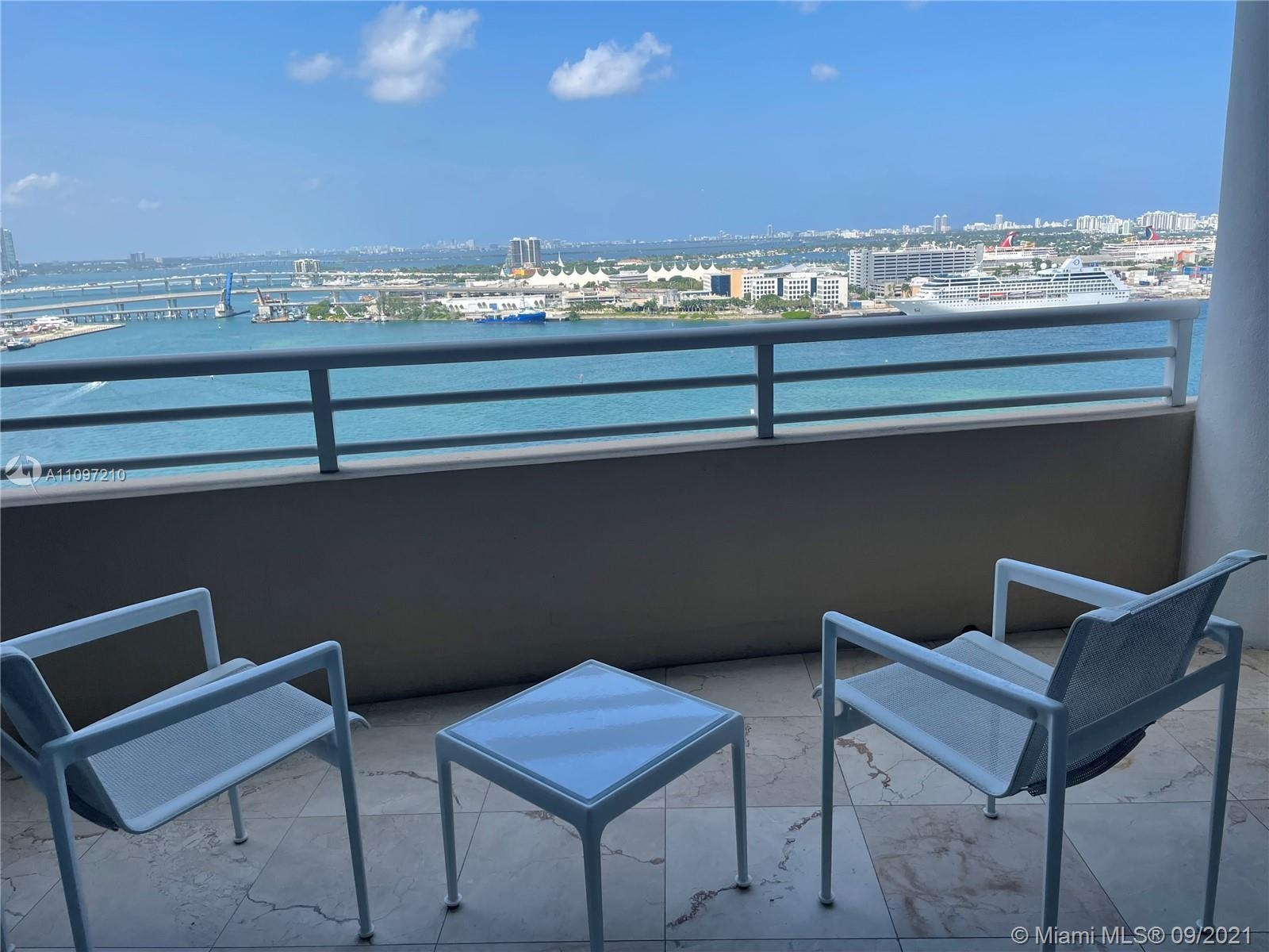 """STUNNING BAY AND CITY VIEWS FROM THIS 22ND FLOOR APARTMENT. """"02"""" LINE RARELY ON THE MARKET.  MARBLE"""