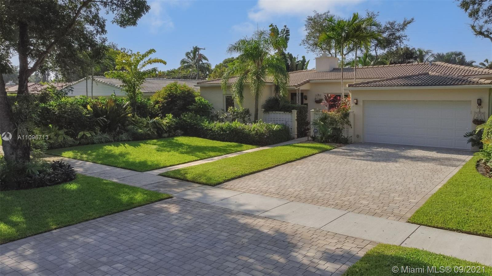 4 BEDROOMS AND 3 FULL BATHS IN CENTRAL MIAMI SHORES.  FENCED, PRIVATE YARD WITH HEATED POOL AND PATI