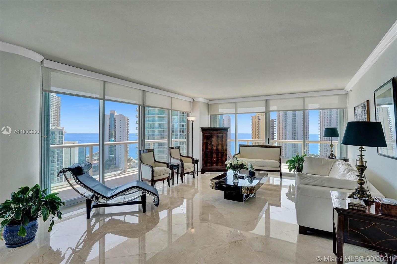 This special corner property is in the sought out area of Sunny Isles Beach. It has breathtaking vie