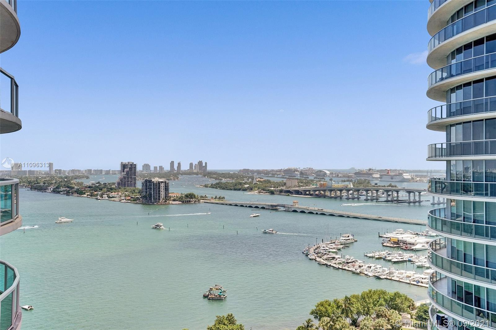 Feel like you are on vacation everyday! Relax on your private balcony with views of Biscayne Bay & t