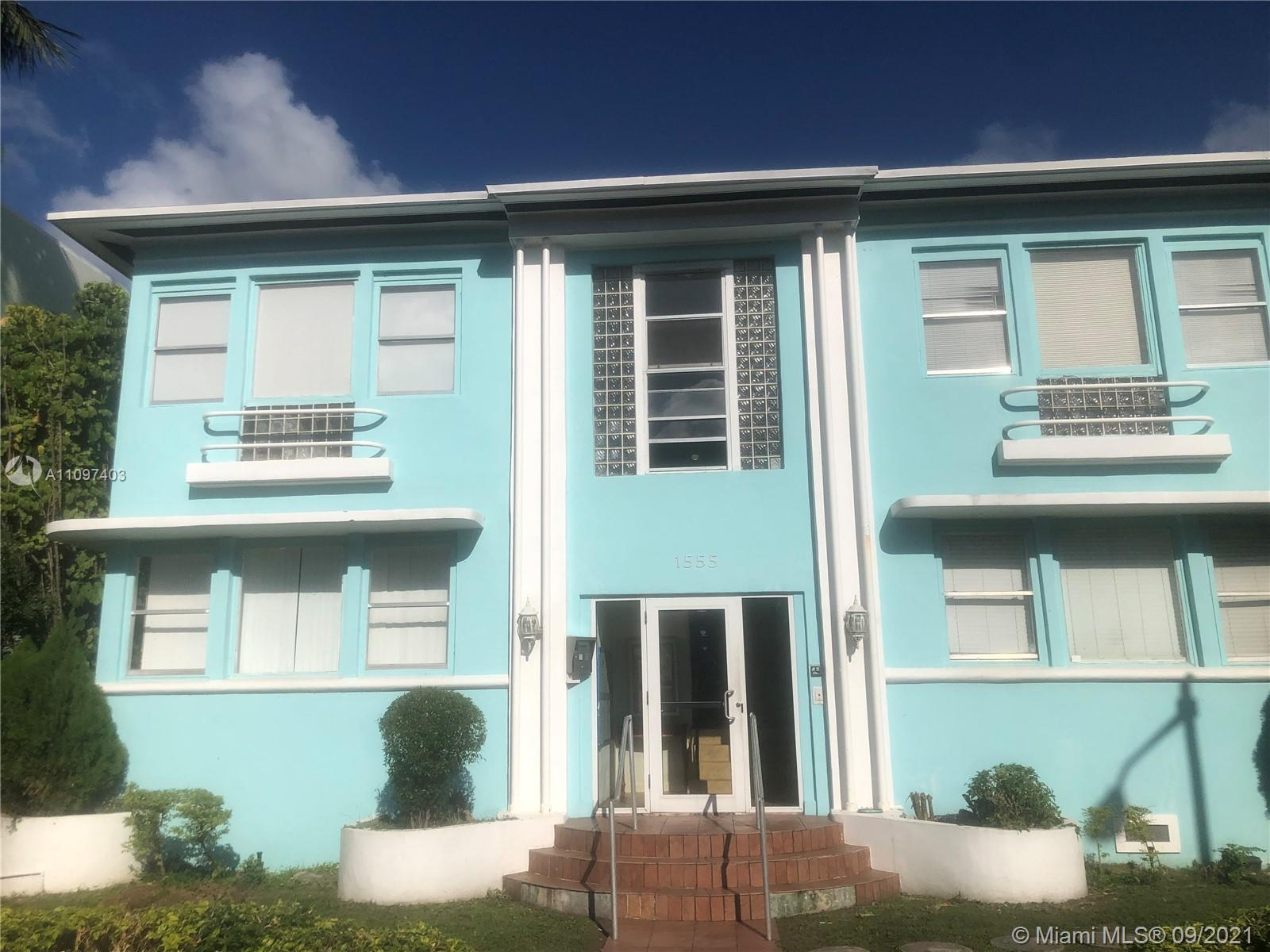 FOR INVESTORS. LOCATION!!! Corner unit, steps to Lincoln Rd and 3 blocks away from the beach. Unit f