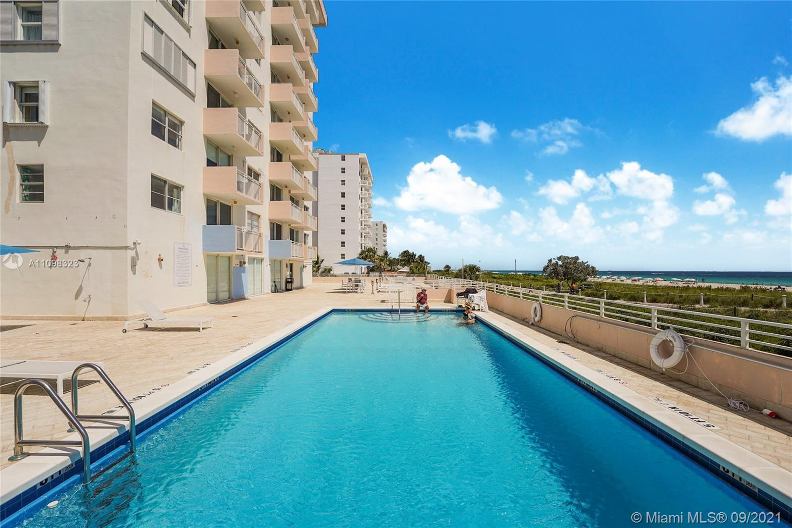Prime location in the most desired South of Fifth neighborhood in South Beach! Great oceanfront cond