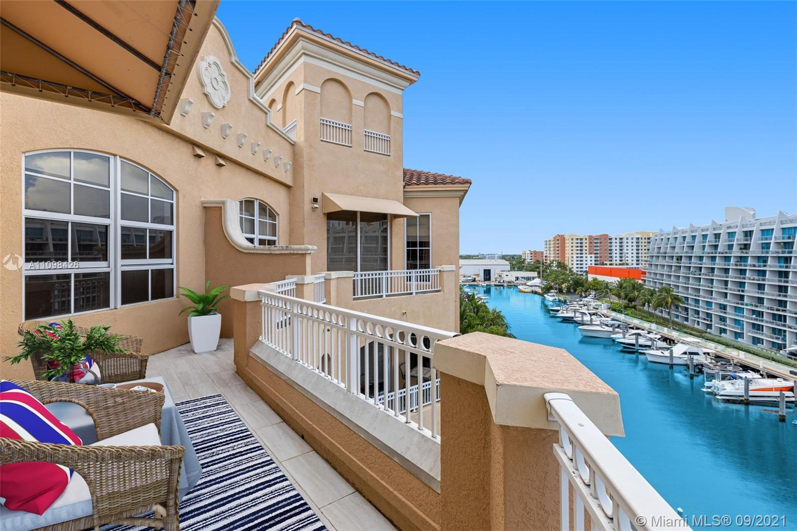 Best line, rarely available with breathtaking water views from every window!  Beautiful top floor 2
