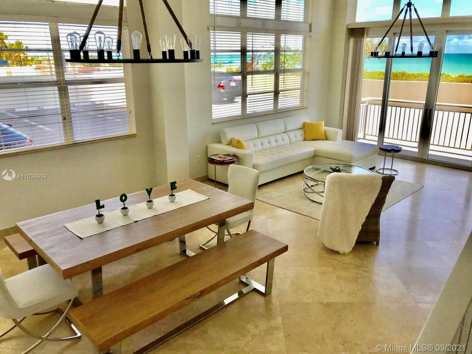 A unique and beautiful home directly on the beach! This one of a kind apartment has fifteen foot ce