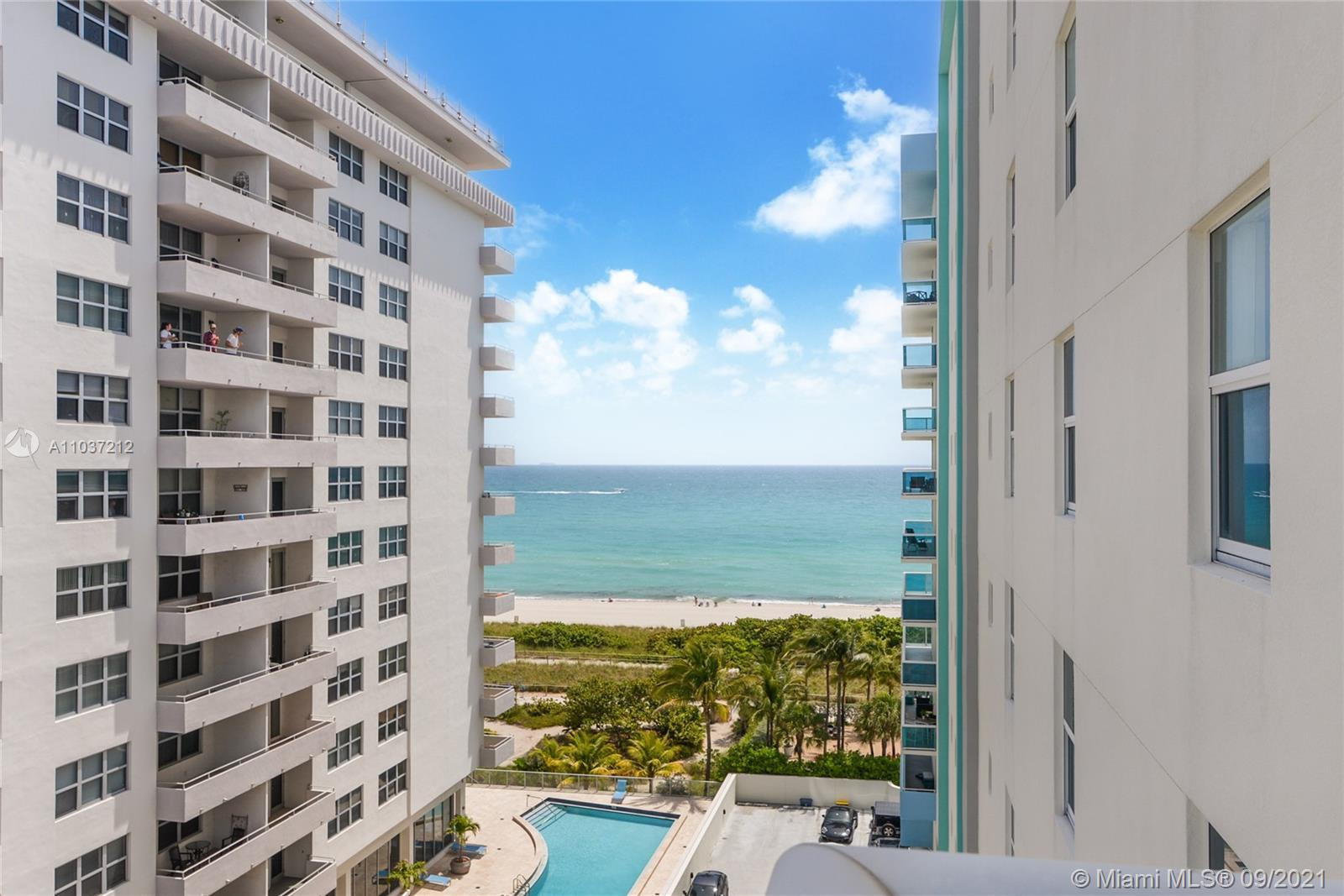 OCEAN FRONT!! Exclusive BOUTIQUE BLDG NW corner unit with 2 beds, 2 baths rarely on the market. Ocea