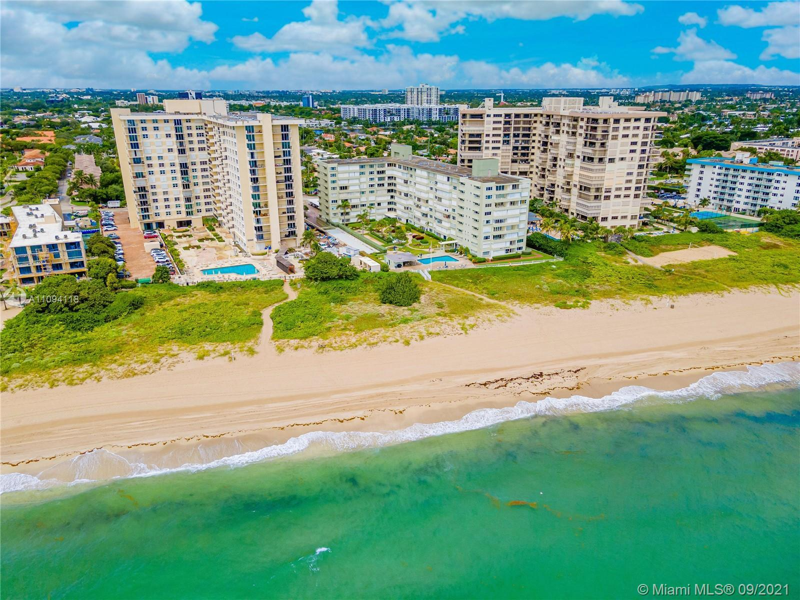Amazing deal on the beach. Unit features a remodeled kitchen with recessed lighting, tile floors, op