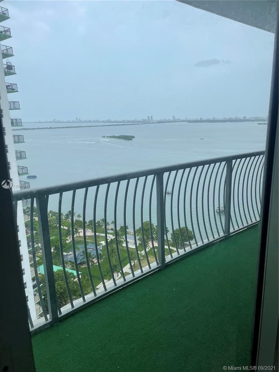 Location location location !direct water view !on this 28th floor huge balcony  this unit has tiles