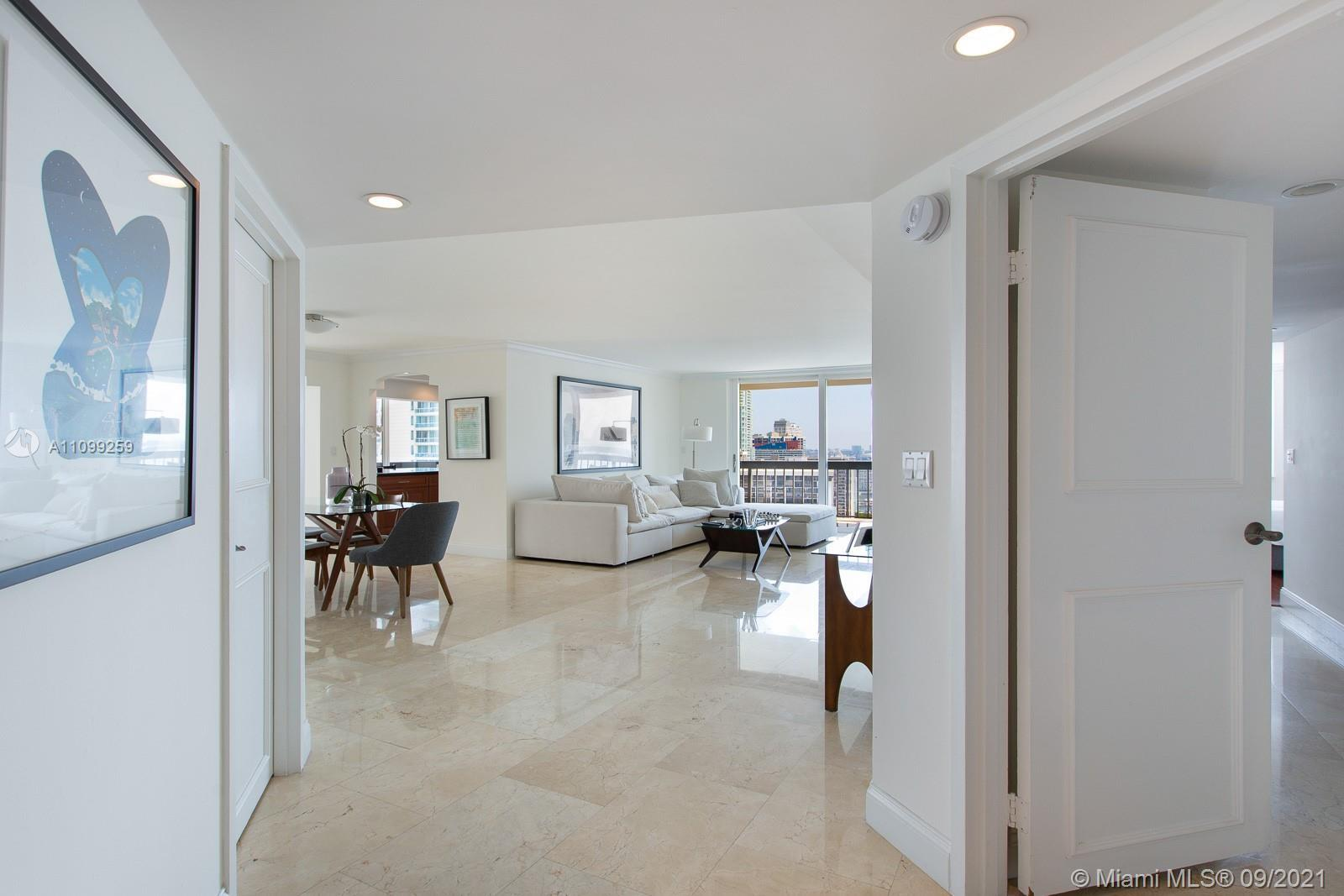 Beautifully updated corner unit in Brickell Bay Club, 2 bedrooms, 2 full bathrooms with lots of clos