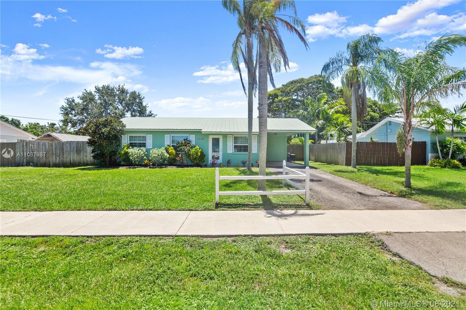 Darling 3/1 on great street! 2nd bath can be added (plumbing is ez access), outdoor shower, carport/