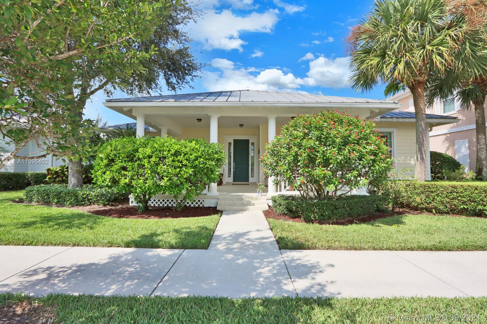 """One story home in Mallory Creek, Abacoa's """"Key West"""" style community. The Sandpiper is one of the mo"""