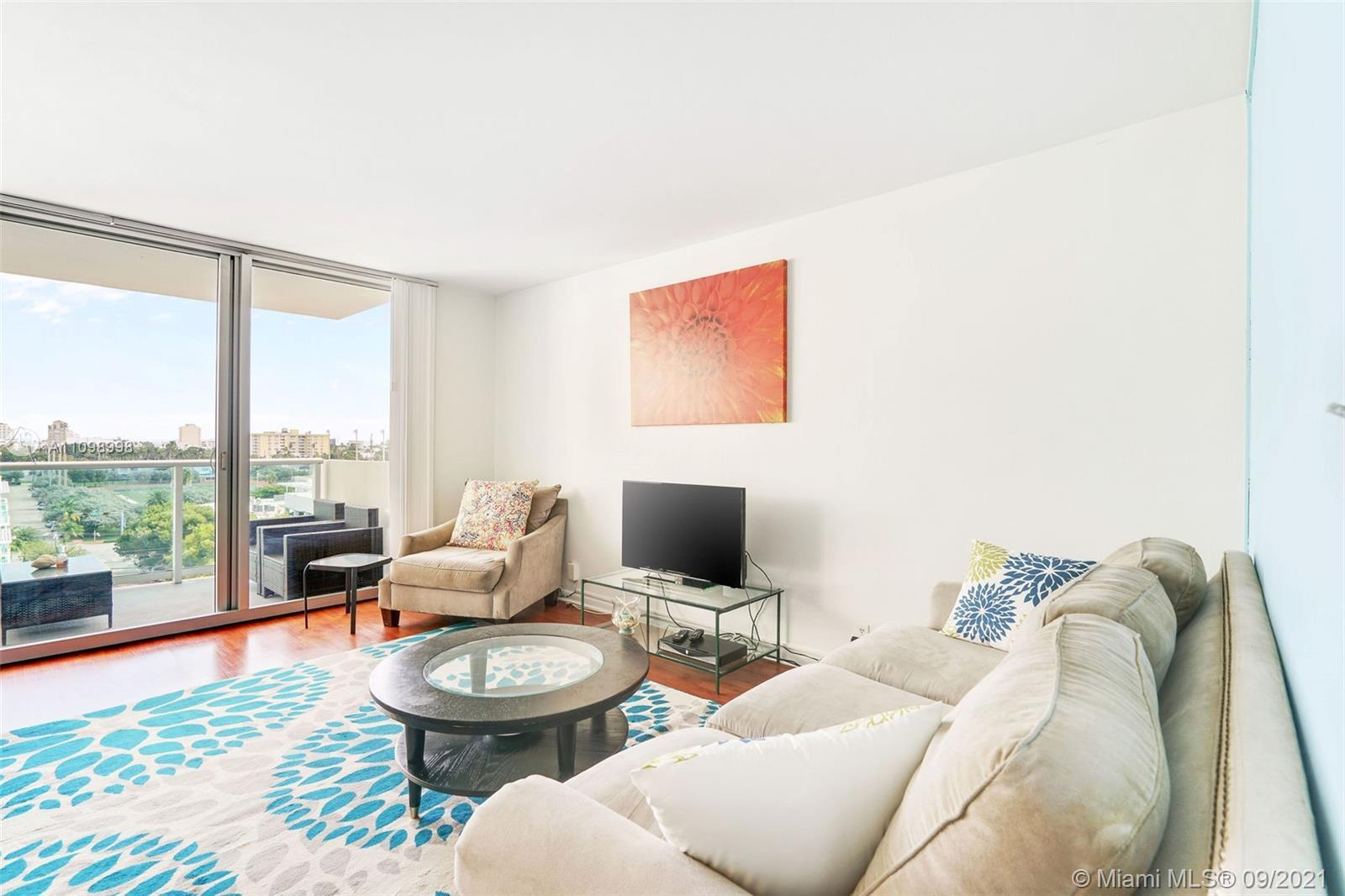 Bayfront in South Beach. Bright studio with private balcony and East view providing abundant morning