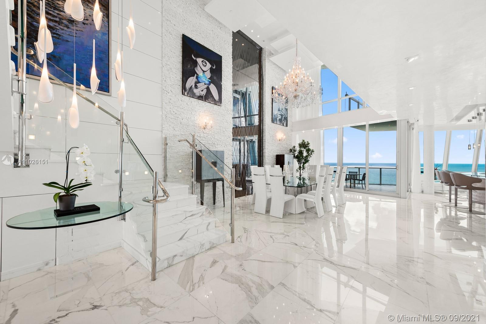 Spectacular Penthouse at Jade Ocean! This stunning contemporary architectural marvel features a tota