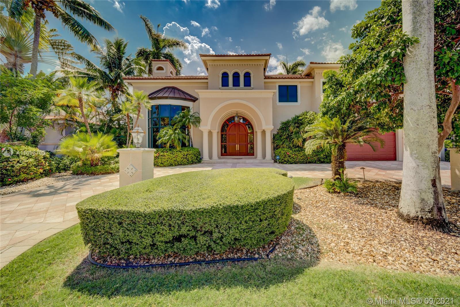 Magnificent estate in prestigious Coral Isles neighborhood in Fort Lauderdale. 100' of deep water fr
