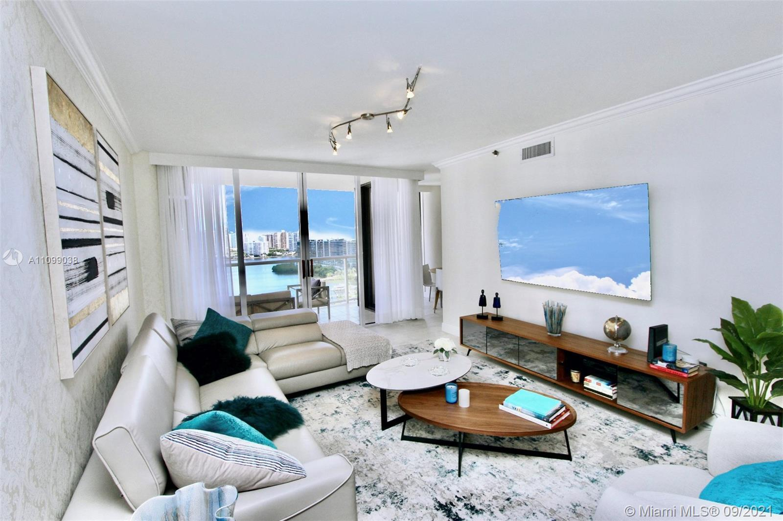 UNOBSTRUCTED INTRACOASTAL AND OCEAN VIEWS FROM ALL ROOMS. BEAUTIFUL AND TOTALLY REDONE 1 BR/1 1/2 BA