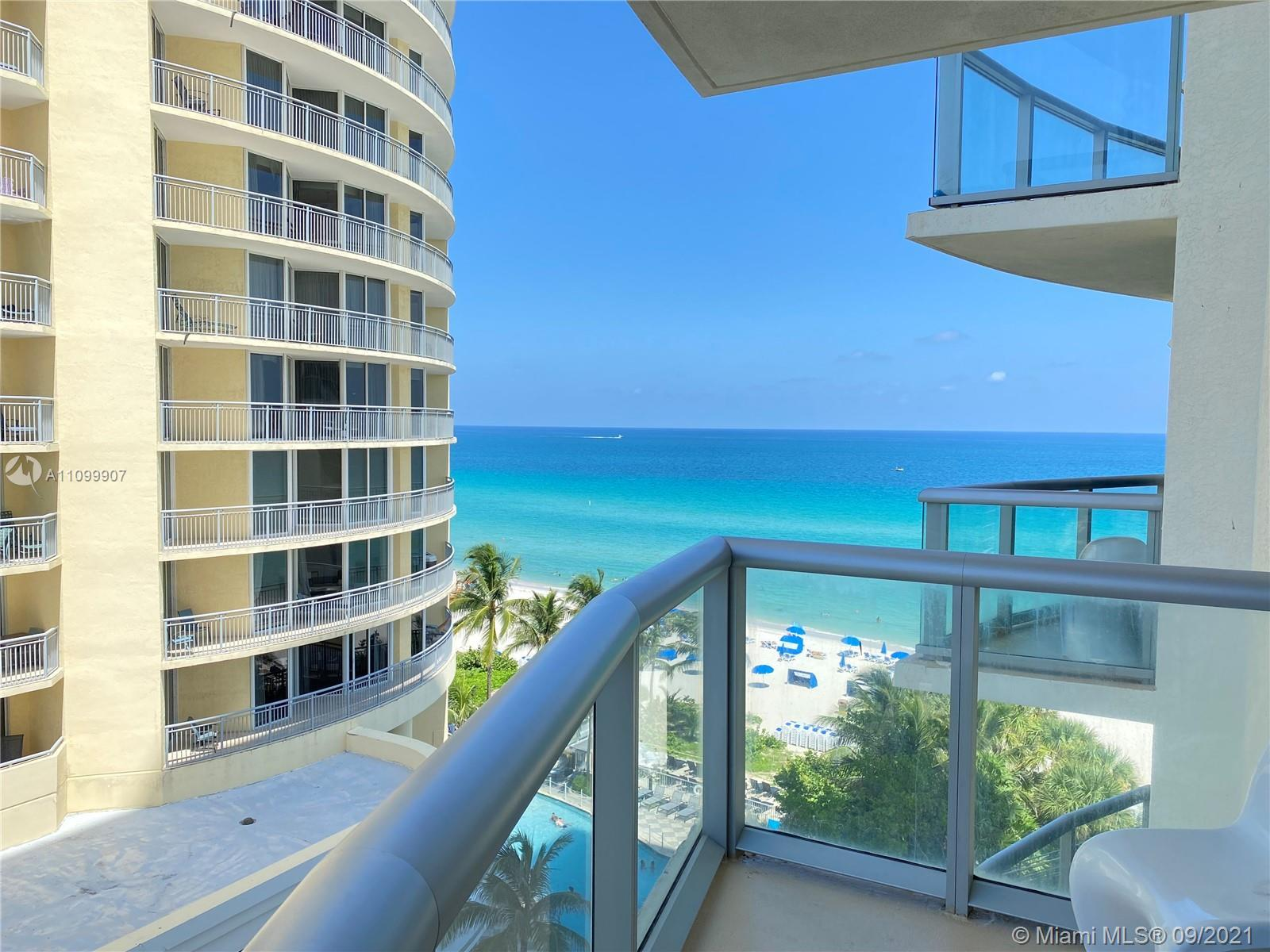 Exclusive oceanfront building features direct beach access. Beautiful 1 bedroom 1 bath condo with a