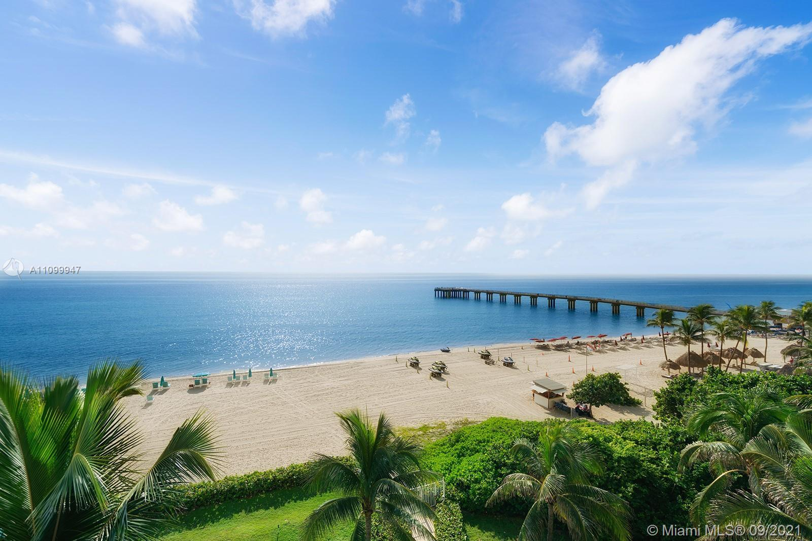 Rarely Available Breathtaking Direct Ocean Views Full 3 Bedroom & 3 Baths Corner Condo in Highly Des