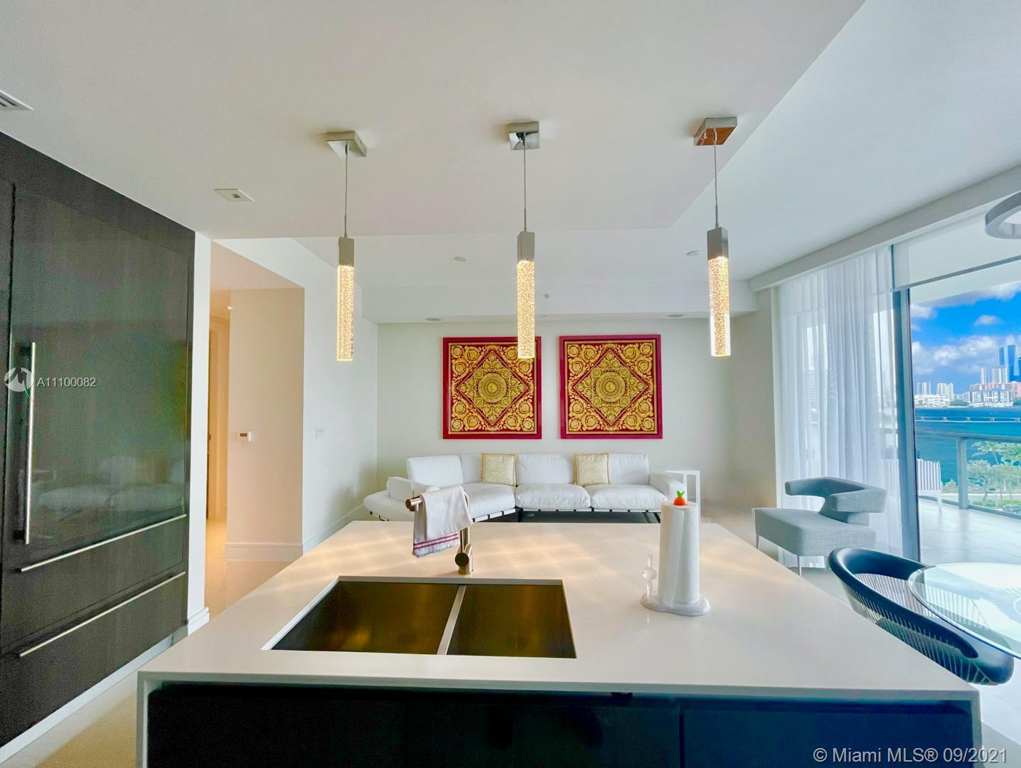 Echo Aventura residence designed with luxurious Italian furniture and professionally decorated; offe