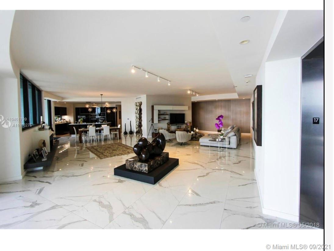 Exclusive Porsche Design tower 4 bedroom 5.5 bath offered FULLY Furnished.  Completely Upgraded unit