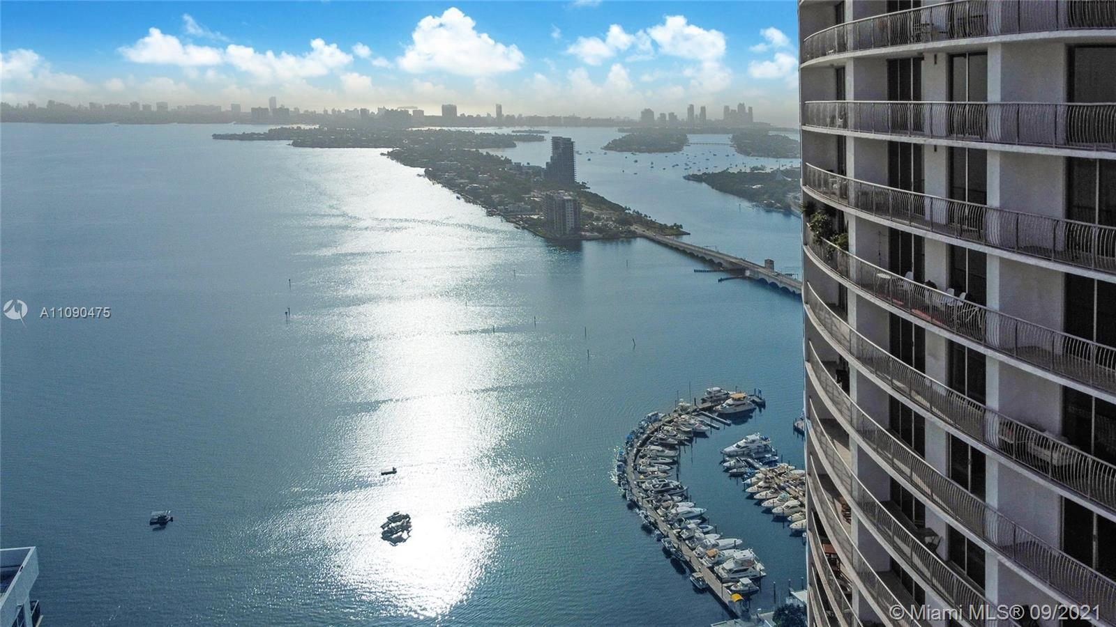Amazing city & bay views from the 45th floor. Spacious 821 sq. ft. unit w/ 1 bed 1 bath, laminated w