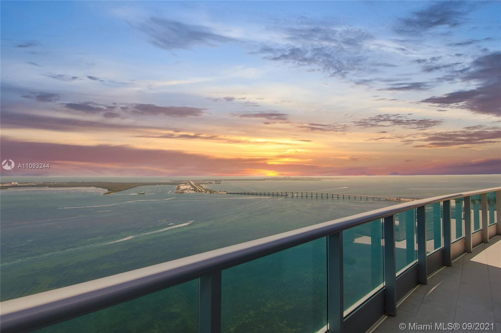 One of a kind Penthouse in Jade Brickell, wrapped in breathtaking views, High Ceilings, a true Tri-l
