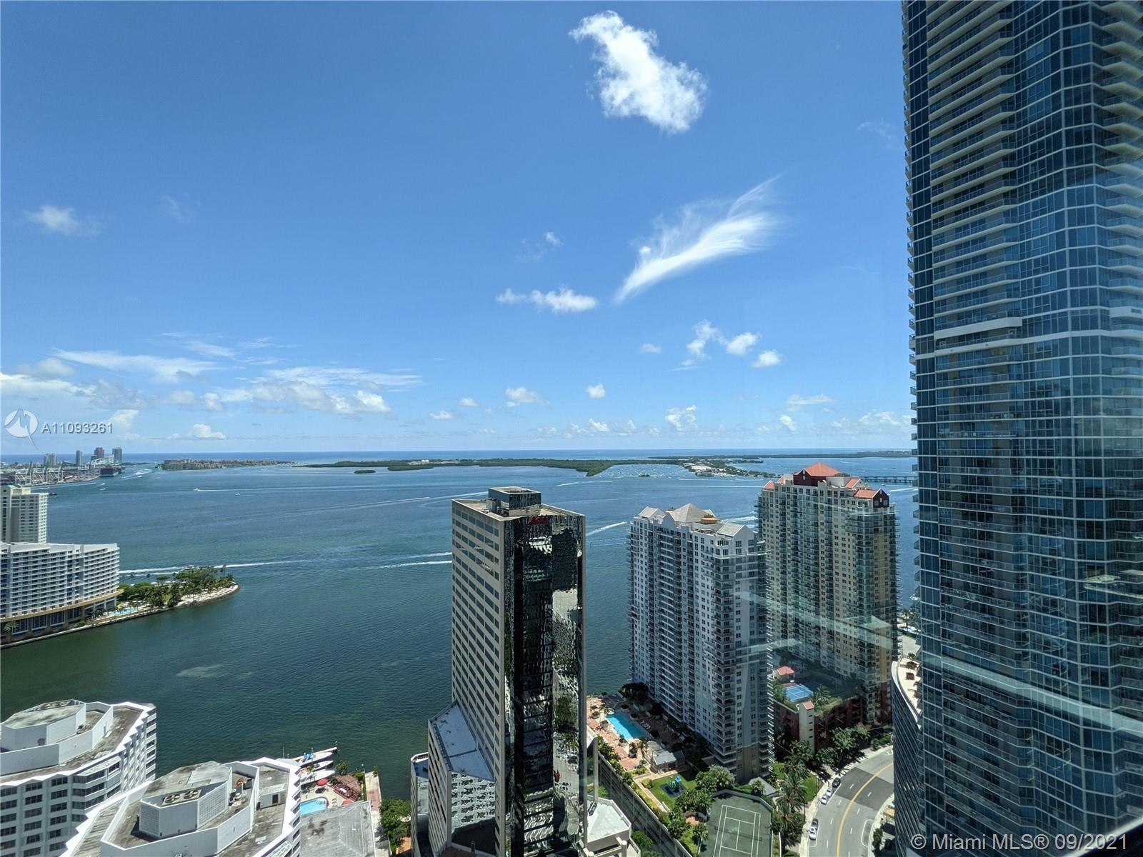 Stunning ocean view Lower Penthouse residence with incredible views of Biscayne Bay and Miami skylin