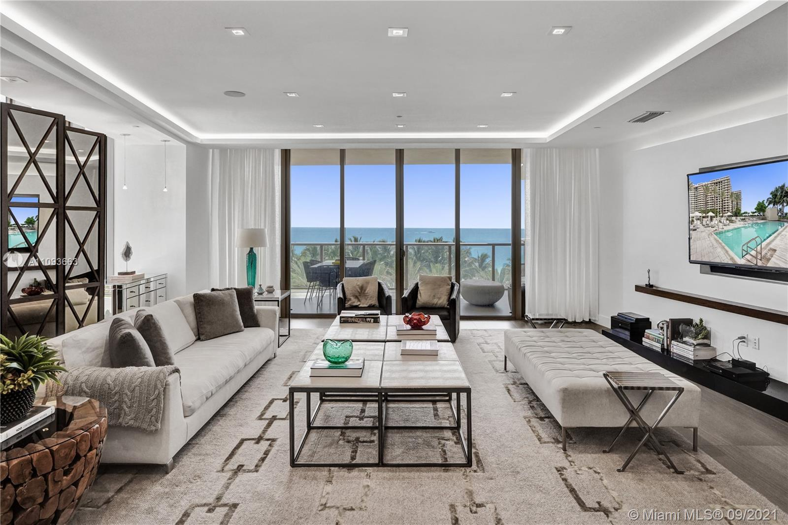 Enjoy this specious 3 bedrooms / 3.5 bathroom in St Regis. 3524sf with ocean views. This apartment i