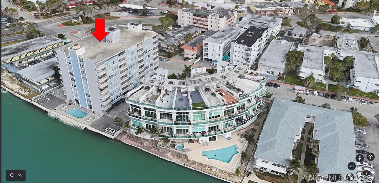 WATER front, LARGE 2 bedroom 2 bath corner unit with tile floors throughout, tons of closet space an