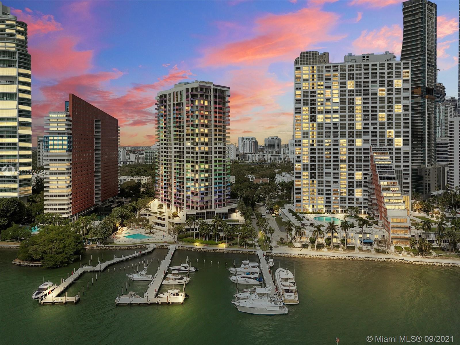 Villa Regina,a luxury full service condominium on desirable Brickell Avenue with 24 hr guard & secur