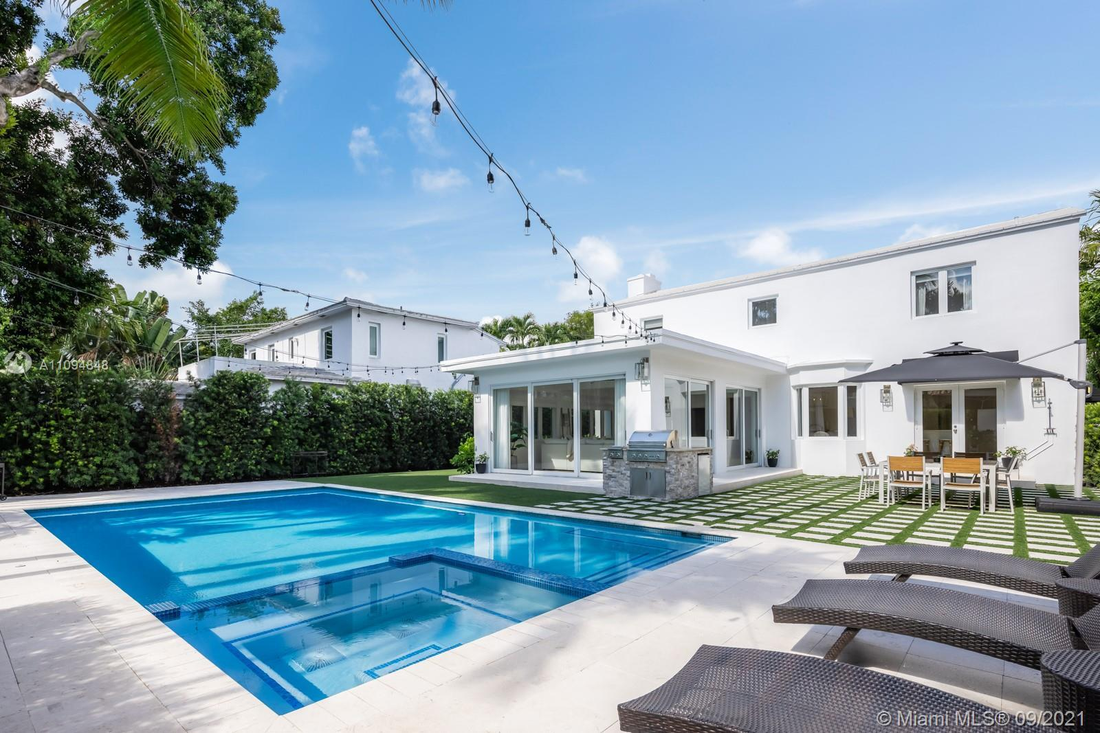 Located on highly sought-after North Bay Road, this move-in-ready Miami Beach residence is a modern