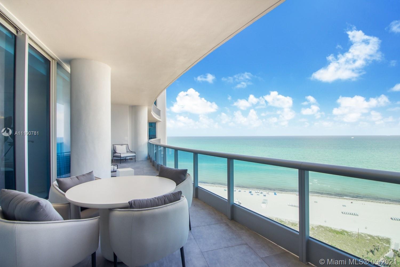 Breathtaking four bedroom oceanfront unit at the luxurious Miami Beach condominium, The Bath Club. T