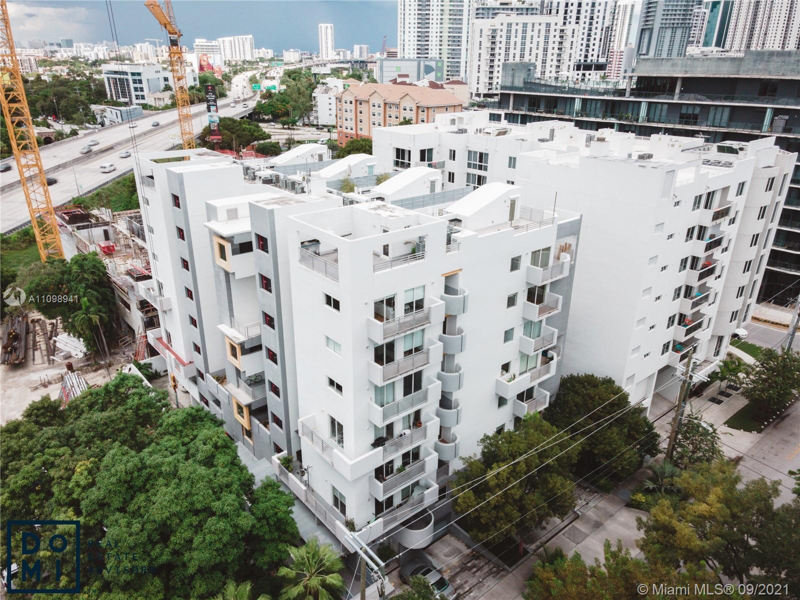 Located in the exclusive lush community of Brickell, UNIQUE location.  Boutique Penthouse, 2 storie