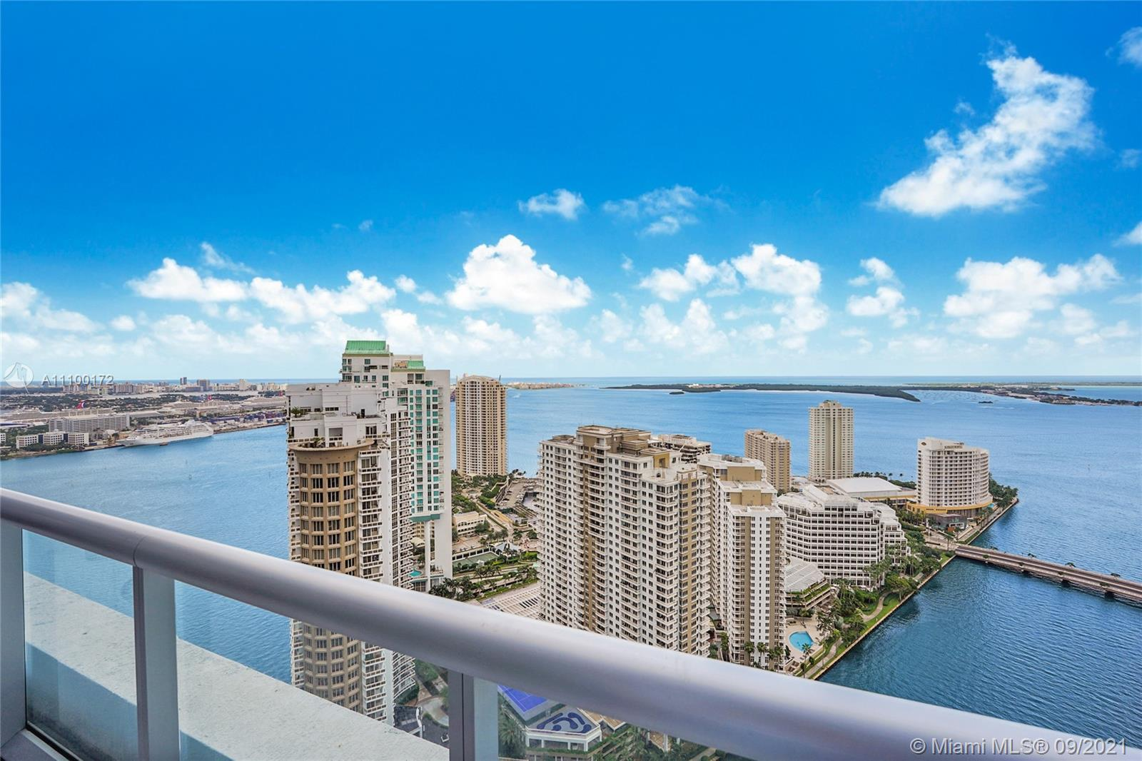 Rarely available double height two bedroom unit for sale on the 41st floor. Ceiling height is 16 fee