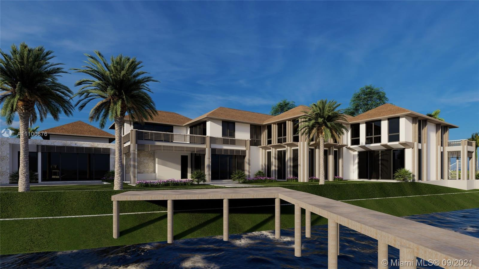 New construction, with 320' of private Admirals Cove Waterfrontage. Long water views from every angl