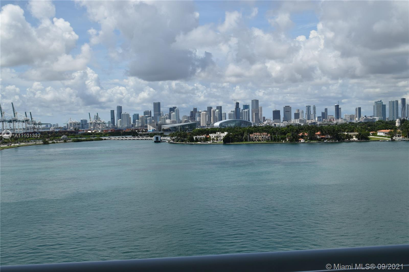 Fine living at the luxurious Bentley Bay in Miami Beach. Direct bay view from the living and master