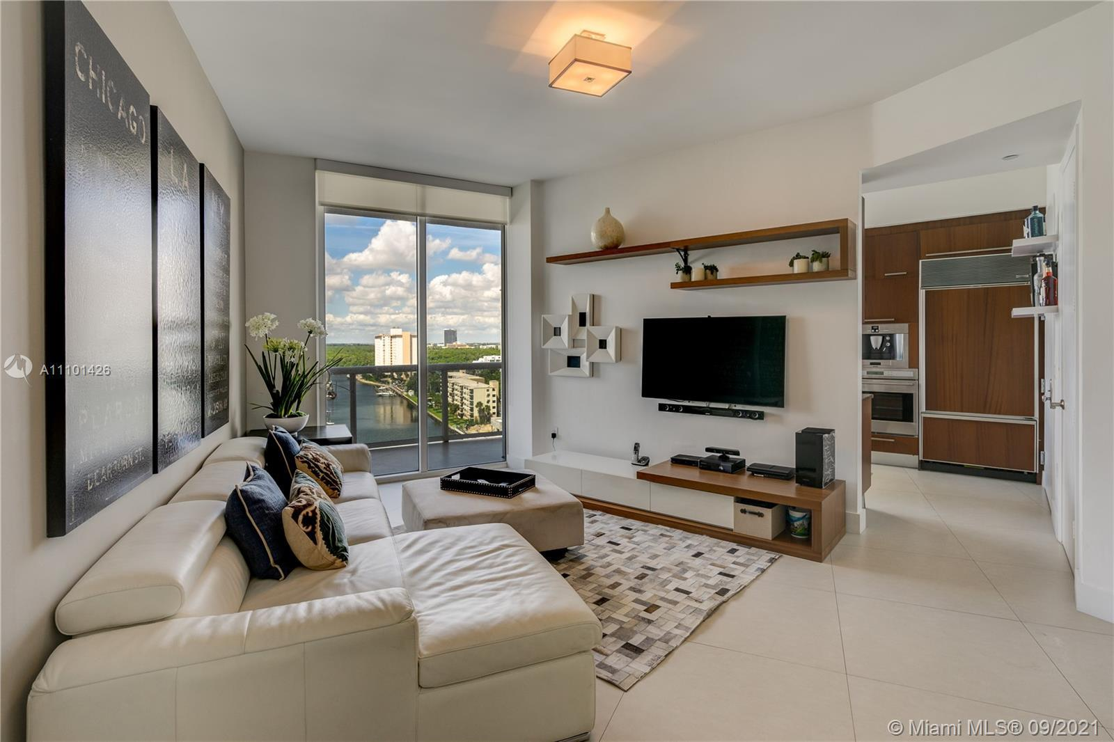 *Best deal at Trump Tower III*. This bright residence with pleasant bay views features wide matte po