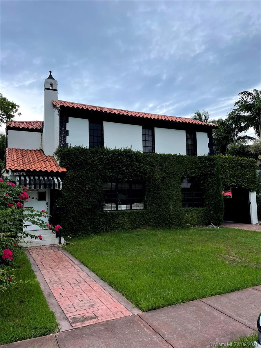 Architectural gem in the heart of Miami Beach. This captivating bungalow is comprised of 3 bedrooms