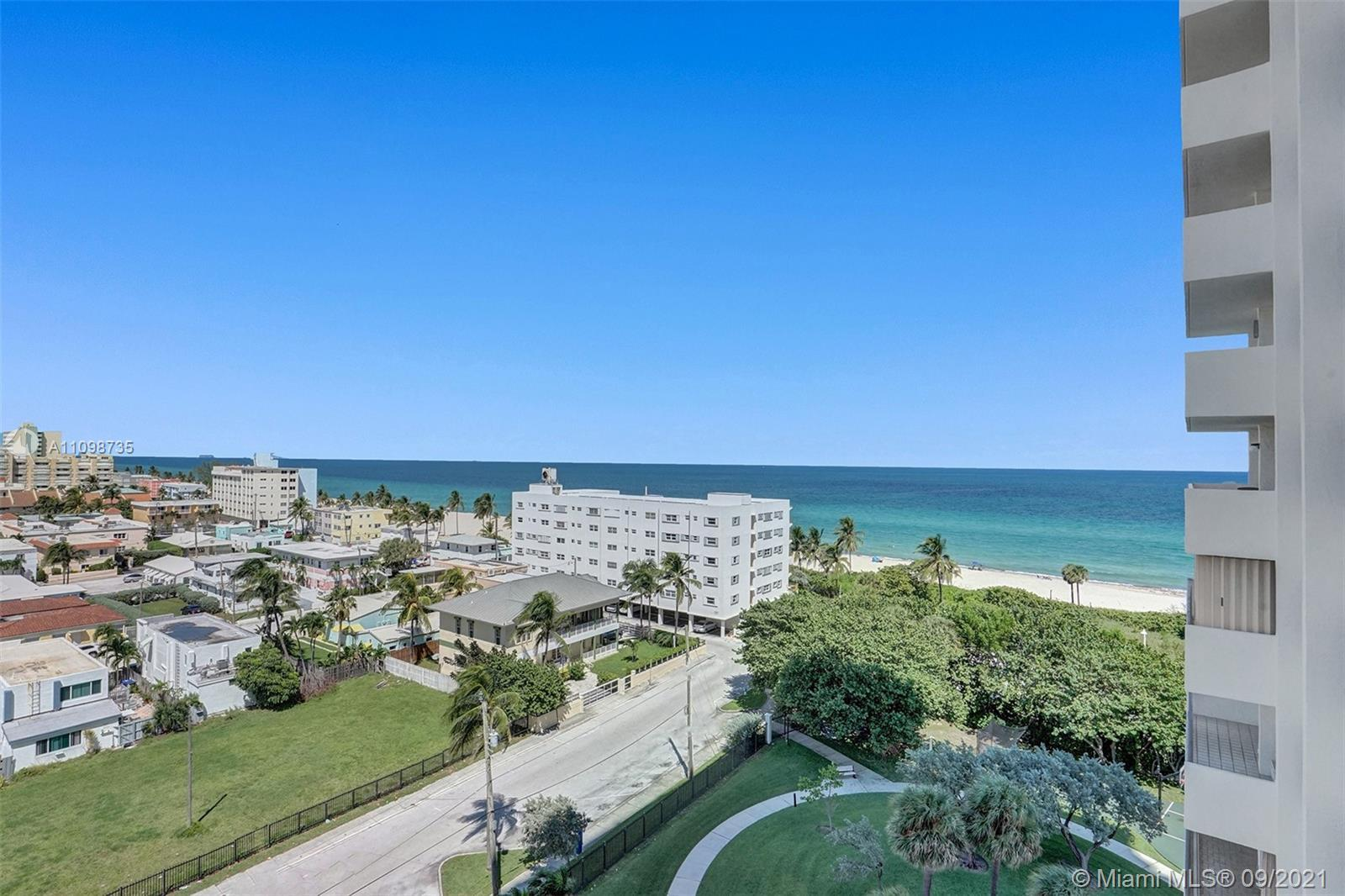 Gorgeous ocean views overlooking Hollywood Beach featuring dramatic sunrises & sunsets this unit has