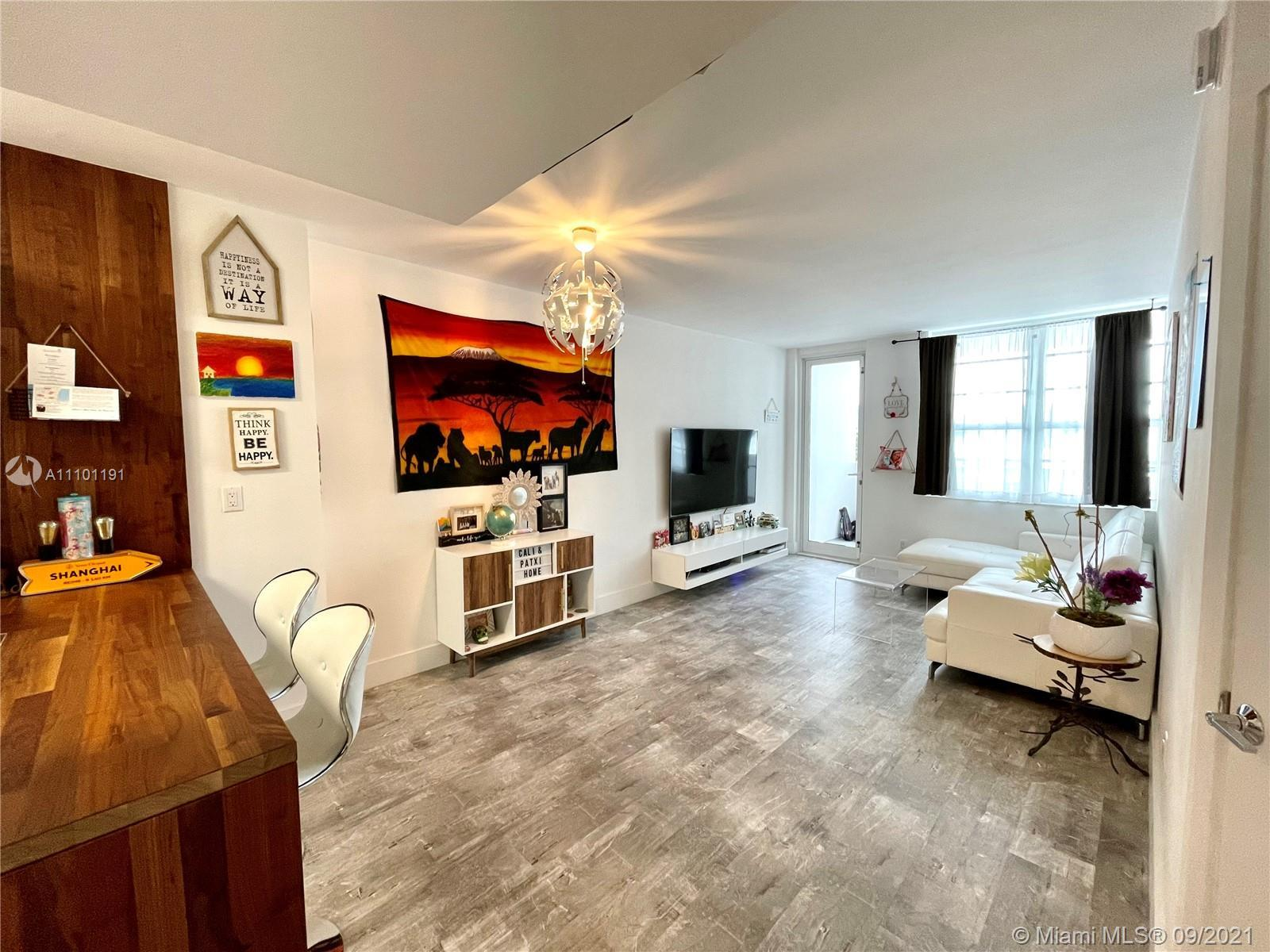 updated unit in the heart of South beach, stainless steel appliances, laminated floor and balcony. B