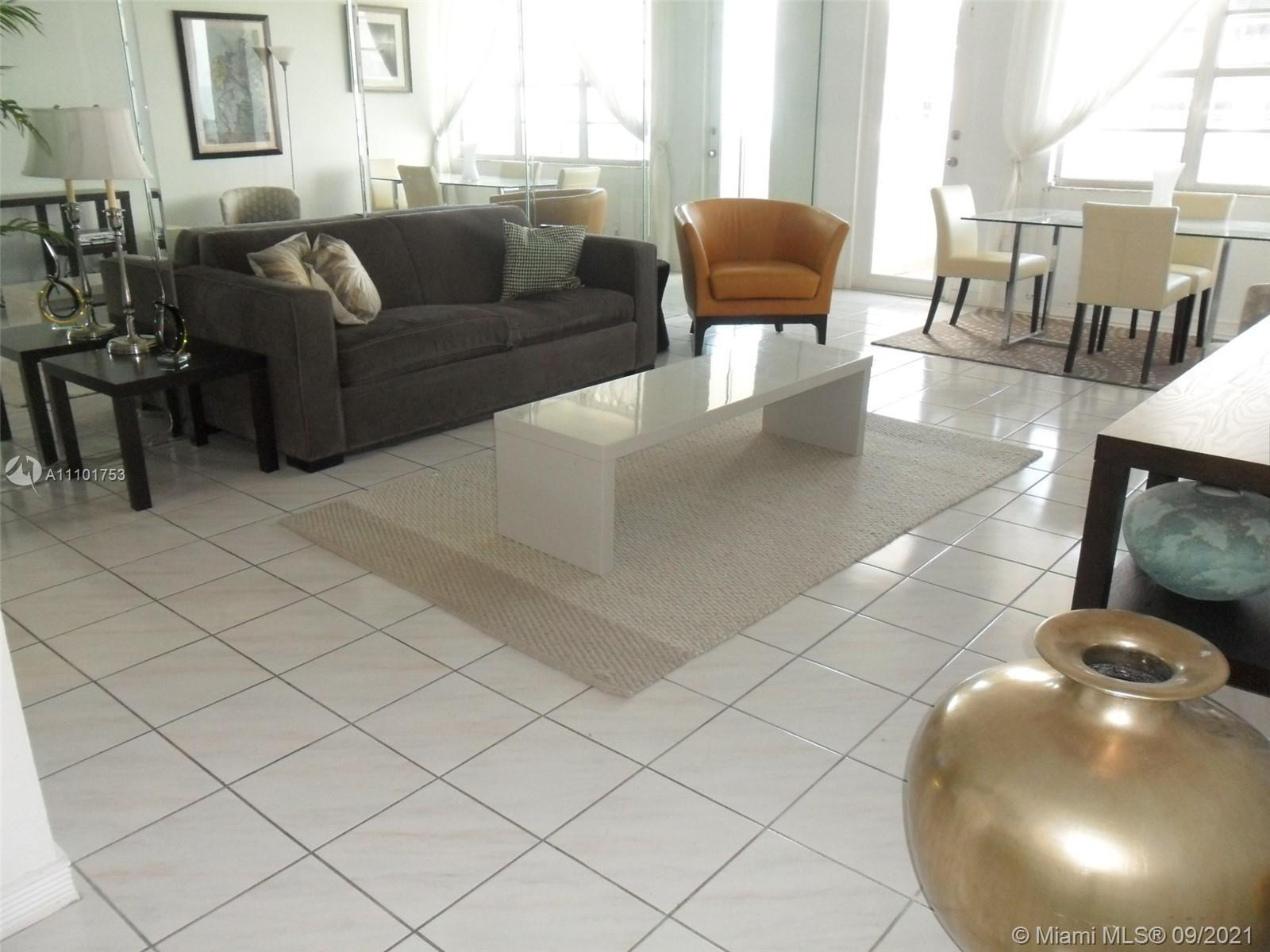 LARGE BEAUTIFUL ONE BEDROOM 1.5 BATH W/BALCONY AND OCEAN VIEW. COMPLETELY FURNISHED, EASY TO RENT, B
